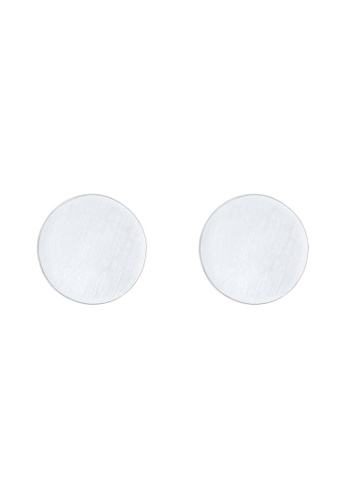 Elli Germany silver Elli Germany Earrings Matte Circle Geo Basic 925 Sterling Silver 68A83AC5EED474GS_1