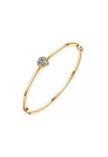 CELOVIS gold CELOVIS - Lux Classic Zirconia Solitaire Bangle (Gold) 291AEAC7C1E938GS_1