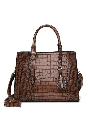 Twenty Eight Shoes Stylish Crocodile Texture Leather Tote Bag DP8090 89E2AAC8A11747GS_1
