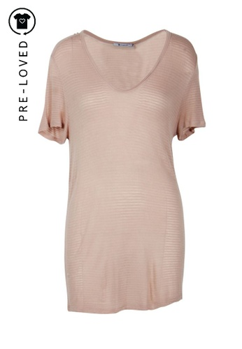 T By Alexander Wang pink Pre-Loved t by alexander wang Nude Top EA203AA6CF9483GS_1