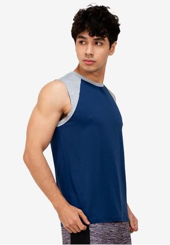 ZALORA ACTIVE multi Raglan Cap Sleeve Muscle T-Shirt 9596EAA115ABDAGS_1