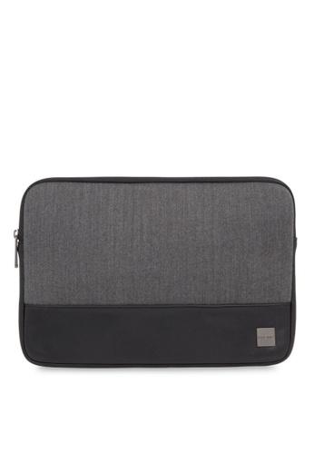 "knomo grey Herringbone 13"" Laptop Sleeve (Grey) 57882ACDA63EECGS_1"