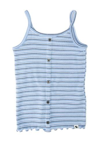 Abercrombie & Fitch blue Buttonthru Rib Cami Top 72574KA864234FGS_1