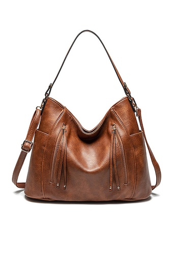 Twenty Eight Shoes brown VANSA Smart Casual Hand Bag VBW-Tb857 AB8D2ACFDDAEB5GS_1