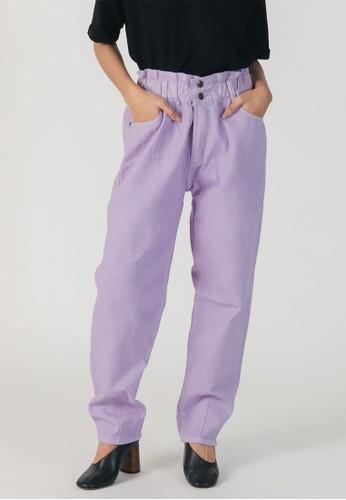 3Mongkis lilac purple 3Mongkis Rain Baggy Denim Pants 631DEAAFE6195AGS_1