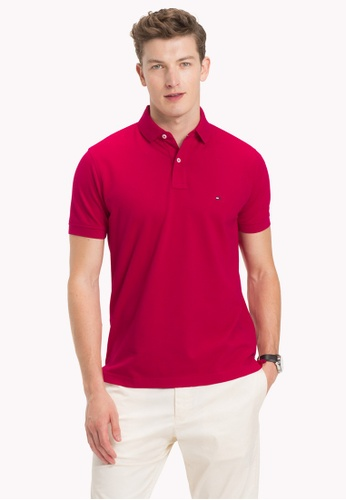 Tommy Hilfiger red TOMMY REGULAR POLO 5B9BDAAFF10D00GS_1