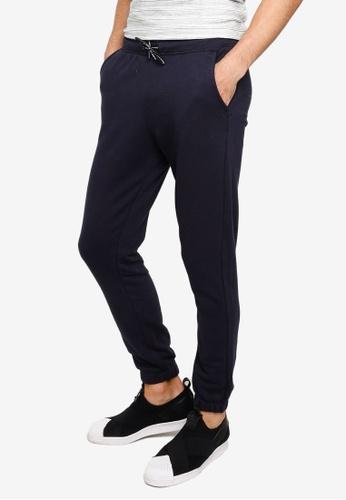 BLEND navy Basic Sweatpants 21C1FAA76D6241GS_1