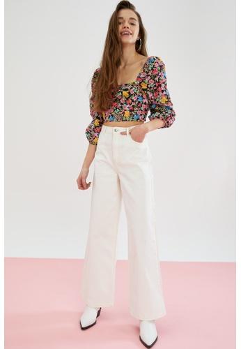 DeFacto beige High Waist Cotton Trousers E96D6AAC4FBB18GS_1