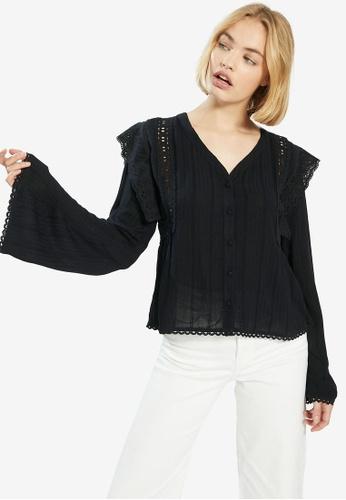 PIMKIE black Wide Sleeved Blouse 9B645AA4734F8DGS_1