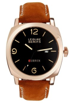 CURREN 8158 Rose Case dial Men's Military Style Watch