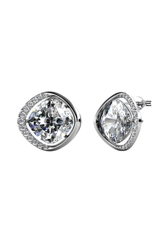 LOVE AND LIFE white Love & Life London Crystals Earrings (White Gold) embellished with Crystals from Swarovski E0473ACE43688BGS_1