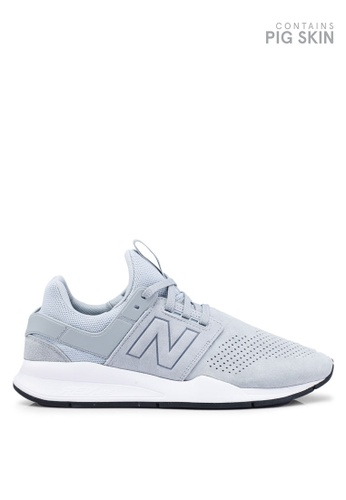 New Balance grey 247 Lifestyle Suede Shoes 84826SH96A144DGS_1