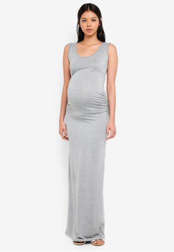 Envie De Fraise grey Maternity Assia Tank Dress 7985AAA34B9F85GS_1