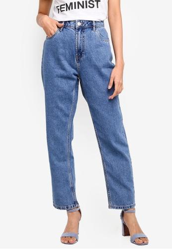 OVS blue Mom Fit Denim Jeans 58E87AA6869404GS_1