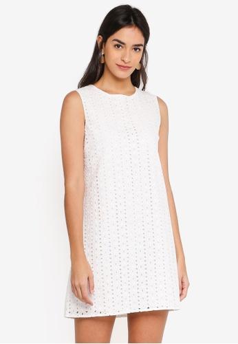 ZALORA white Sleeveless A-Line Dress 43A10AA7B47713GS_1