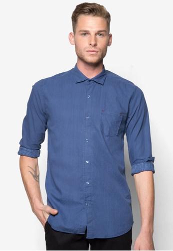 素色合身長esprit台北門市袖襯衫, 服飾, 襯衫