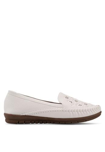 Alfio Raldo white Pleather Loafers 335F4SHA7B956AGS_1