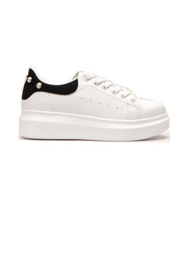 Crystal Korea Fashion black Korean Made Pearls Casual White Shoes E211ASH1150360GS_1