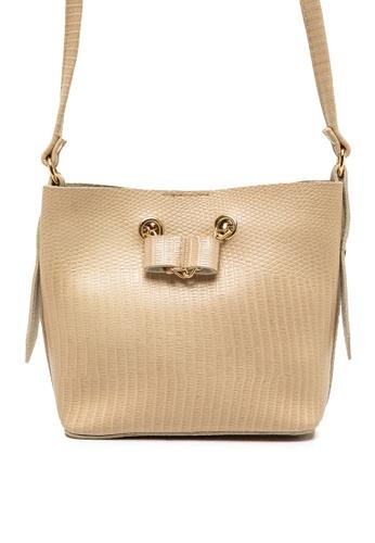 KOTON beige Leather Look Shoulder Bag 92126ACF42CDDBGS_1