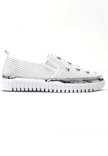 Crystal Korea Fashion white Korean New Leather Breathable Casual Shoes CR681SH33RVIHK_1