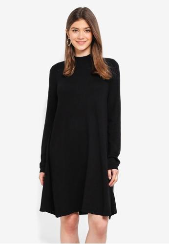 Pieces black Jasmin LS Turtleneck Dress 48722AA97A0D2DGS_1