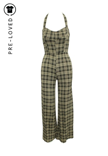 Reformation brown Pre-Loved reformation Checked Maxi Oversized Jumpsuit 085C8AA0640232GS_1