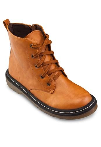 esprit 會員Chloe 繫帶軍靴, 女鞋, 鞋