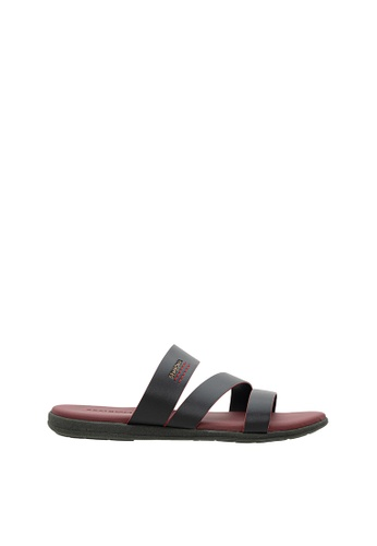 SEMBONIA red SEMBONIA Men Synthetic Leather Sandal (Red) 0119FSHB01D2A2GS_1
