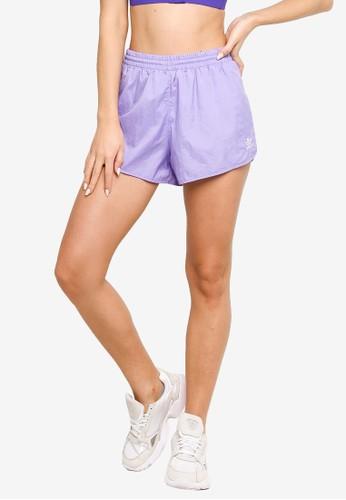 ADIDAS purple adicolor classics 3-stripes shorts 1563CAA2ABE51FGS_1