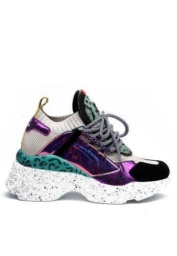 Twenty Eight Shoes 紫色 潮流針織襪子運動鞋 VT569 F1AE3SH95698DBGS_1