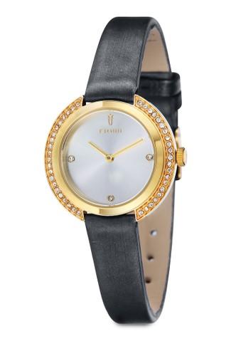 AGNIS水鑽皮革圓錶, esprit sg錶類, 飾品配件