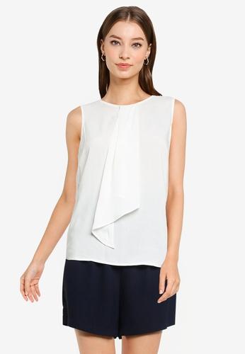 ZALORA WORK white Origami Front Blouse 86D12AA038410DGS_1