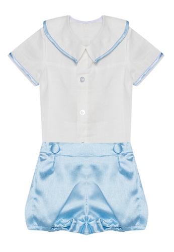 RAISING LITTLE blue Sylvester Outfit Set E035EKAF4D182CGS_1
