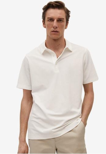 MANGO Man white Technical Cotton Piqué Polo Shirt 4EFCFAA80C6C96GS_1
