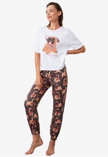Trendyol multi Hug A Pug Pajamas Set DA81BAAF2881EFGS_1