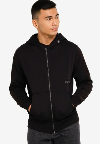 Calvin Klein black Off Placed Iconic Hoodie - CK Jeans E9FCEAAC2E3A9FGS_1