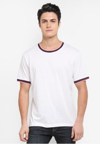 MANGO Man white Pocket Cotton T-Shirt EE035AA732F028GS_1