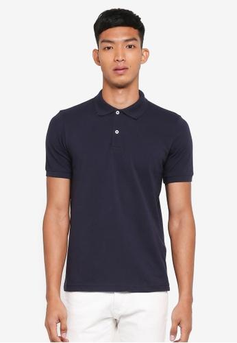 OVS navy Basic Polo Shirt 7C01DAA0FA6973GS_1