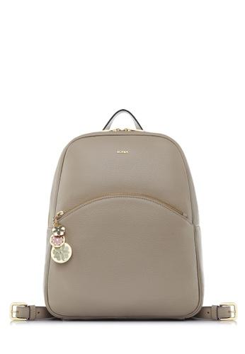 BONIA grey Medium Grey Sadie Backpack AADD7AC372934AGS_1