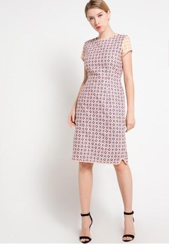 BATIK SEMAR pink Crop Side Dress Pa Ceplok Kembang Tanjung 41 BA020AA45DQKID_1