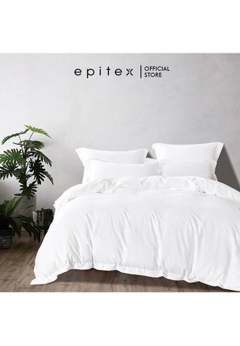 Epitex white Epitex Supima Cotton 1200TC Bedsheet - Quilt Cover Set - w quilt cover (White) CBA3BHL7F68F58GS_1