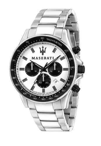 Maserati silver Maserati Sfida Silver Metal Band Quartz Chronograph Watches R8873640003 20AF8ACAEB40C7GS_1