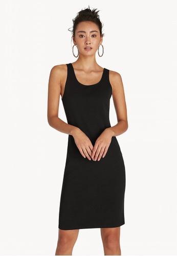 9d87117e16ab Buy Pomelo Mini U Neck Bodycon Dress - Black Online on ZALORA Singapore