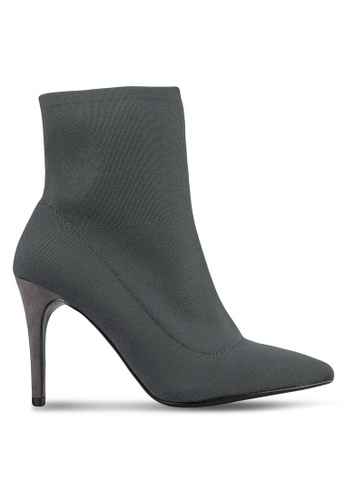 Dorothy Perkins grey Grey Aristo Sock Boots DO816SH0S0A8MY_1