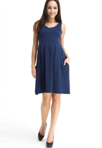 Bove by Spring Maternity blue Knitted Eva Sleeveless Dress LD402 SP010AA03RZCSG_1