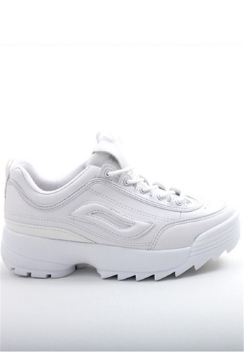 Crystal Korea Fashion 白色 韓國製春夏新款顯瘦厚底內增高鞋 08887SH2DED4B4GS_1
