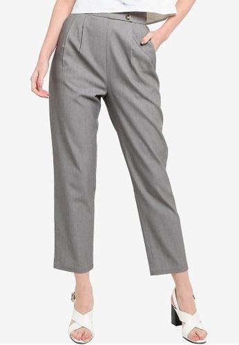 ZALORA WORK 灰色 Vintage Cut Tapered Pants ACF92AAAF97F74GS_1