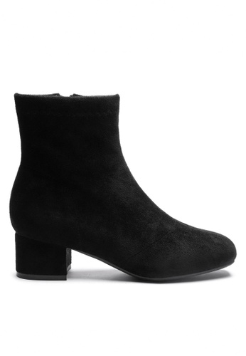 Twenty Eight Shoes black Synthetic Suede Ankle Boots 1722-1 C6A57SH1ADA225GS_1