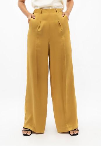 1 PEOPLE yellow Branson BKG - Wide Leg Pants - Mimosa D53CAAA2324CF8GS_1