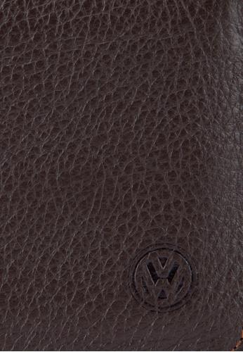 Volkswagen brown Volkswagen Bi-Fold Full Leather Wallet VO089AC09MWKMY_1